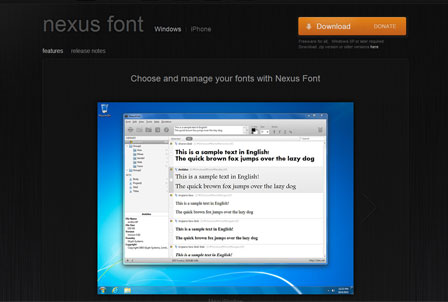 Nexus Font Manager für Windows